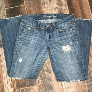 American Eagle Favorite Boyfriend Distressed Jeans
